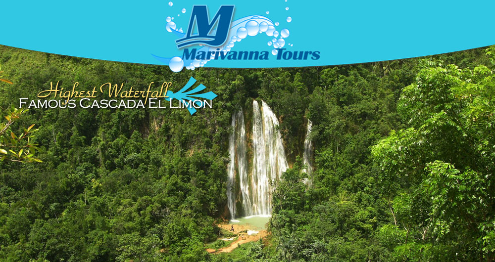 Cascada El Limon Waterfall Tour and Excursion in Samana for your Cruise Ship from the Port of the Town of Samana...