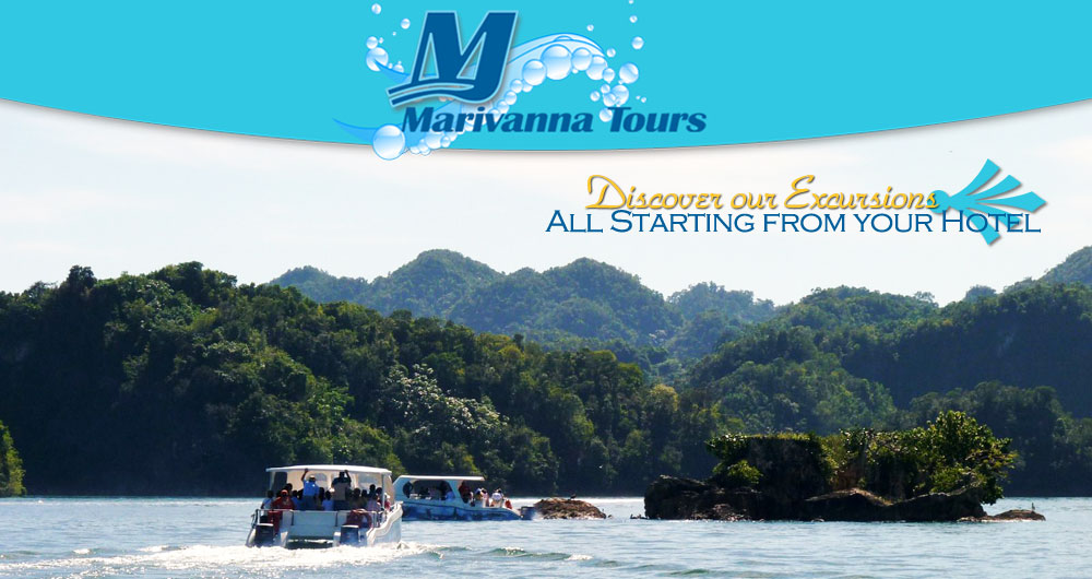 Samana Excursion and Tour for Hotel - All Tours and Excursions from your Hotel organized by Marivanna Tours in the Town of Samana. Boat Excursion and Tour in Samana Bay...